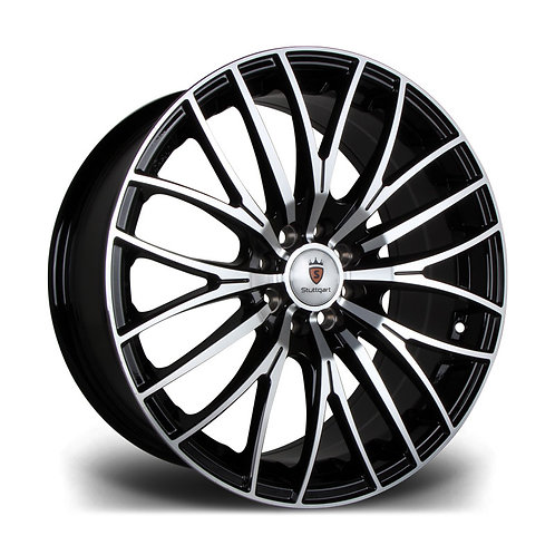 Stuttgart ST17 17x7.5J 4x100 / 108 alloy wheels finished in machined black