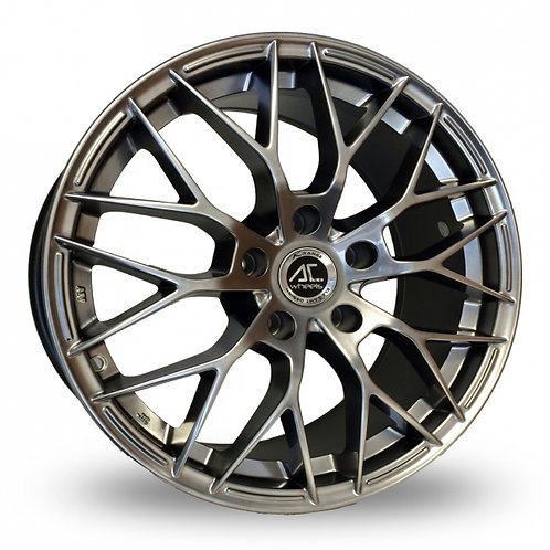 "Ac wheels saphire hyper black 17"" alloy wheels"