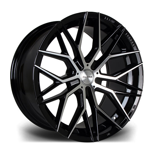 Riviera RF101 19x9.5J alloy wheels finished in polished gloss black
