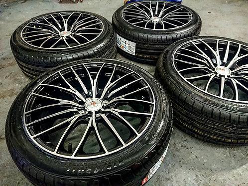 "Stuttgart ST17 17"" 4x100 / 108 alloy wheels + brand new 214/45R17 tyres!"