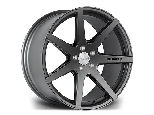 "Riviera RV177 19x9.5J"" 5x120 alloy wheels finished in matt gunmetal"