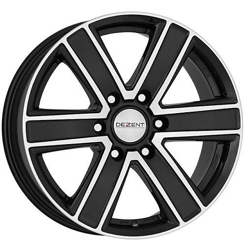 Dezent TJ 6 spoke alloy wheels finished in polished black