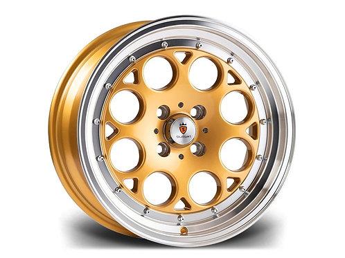Stuttgart ST6 16x8J 4x100 alloy wheels Polished gold