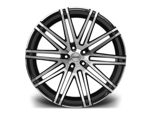 Riviera RV120 22x9J alloy wheels finished in polished gloss blac