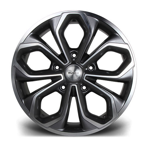 Riviera RTT commercial 20x8.5J 5x160 alloy wheels finished in gunmetal polished