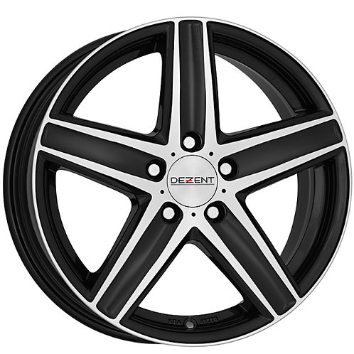 "Dezent TG alloy wheels available in 16 and 17"" (polished black)"