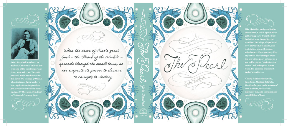 A mock-cover for The Pearl, a novel by John Steinbeck