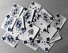Pandemic Playing Cards – cyanotype on paper