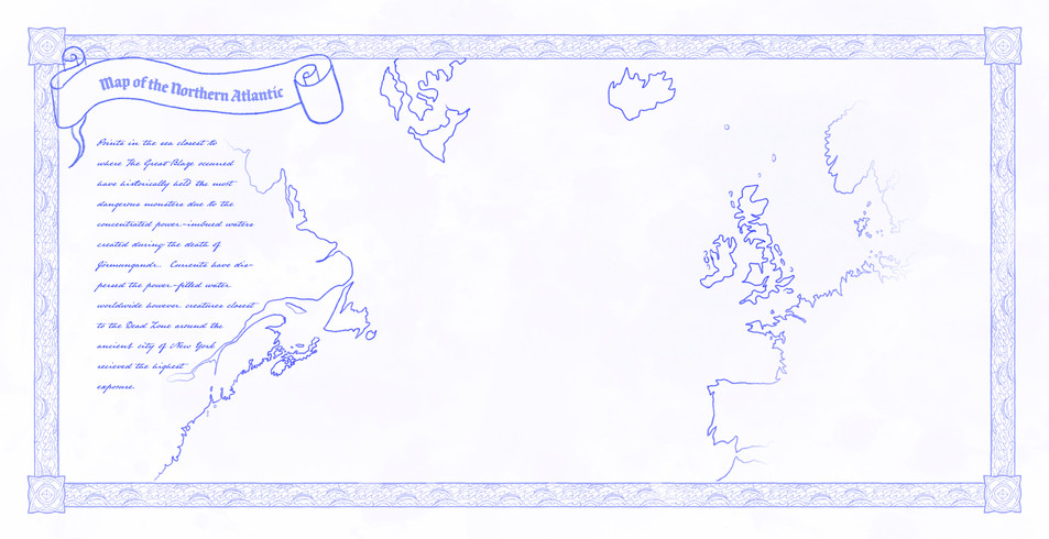 Map of the Northern Atlantic