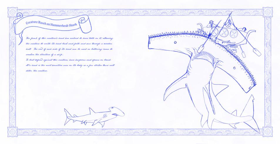 Creature Based on Hammerhead Shark