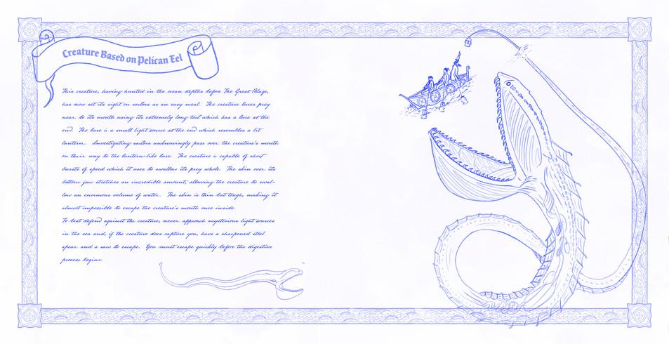 Creature Based on Pelican Eel