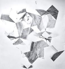 Tessellated Self-Portrait – ballpoint pen on paper