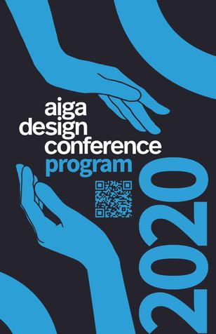AIGA Design Conferance Program Cover (mock-redesign)