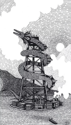 The Tower – ink on paper