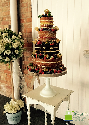 A gluten free naked wedding cake | Confetti.co.uk