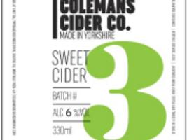 Colemans Cider-Sweet Cider [4 pints]