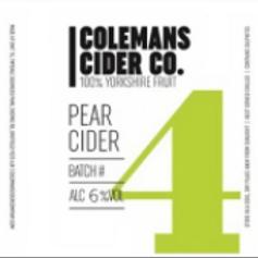 Colemans Cider-Pear Cider [4 pints]