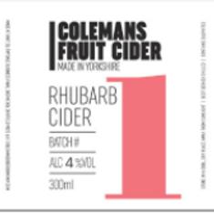 Colemans Cider-Rhubarb Cider [2 pints]