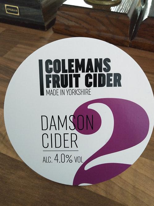 Colemans Cider-Damson Cider [4 pints]