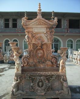 Wandbrunnen reich verziert