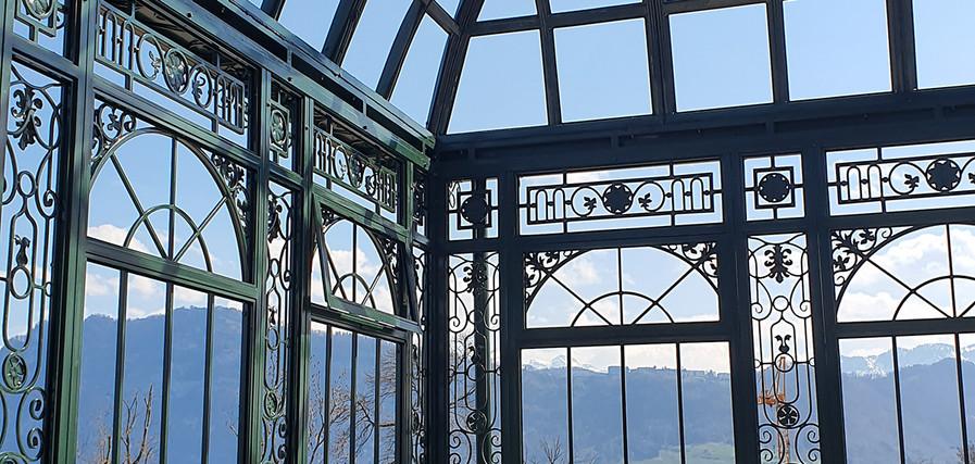 Dachelemente für das Glasdach