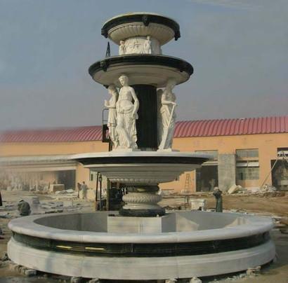 Marmorbrunnen zweifarbig