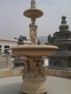 Brunnen mit Kindern