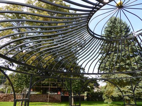 Dach vom Gartenpavillon