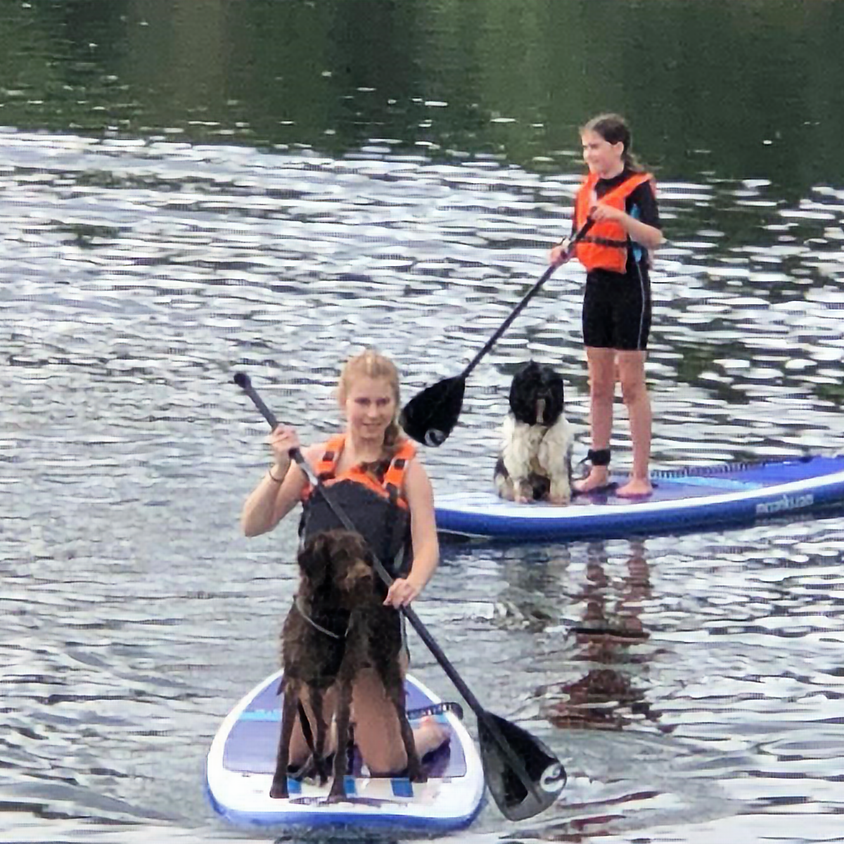 Paddleboarding with your dog!