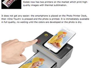 Kodak photo printer in Switzerland