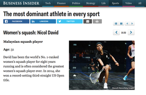 Business Insider: Nicol David