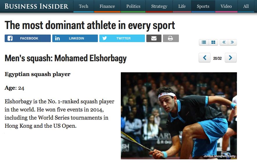 Business Insider: Elshorbagy