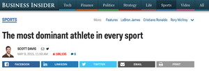 """Business Insider: """"The most dominant athlete in every sport"""