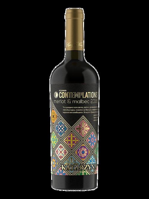 Вино Contemplations Merlot & Malbec 2018 година 700 мл.