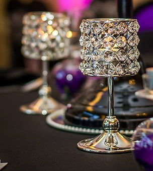 Crystal wedding centrepiece