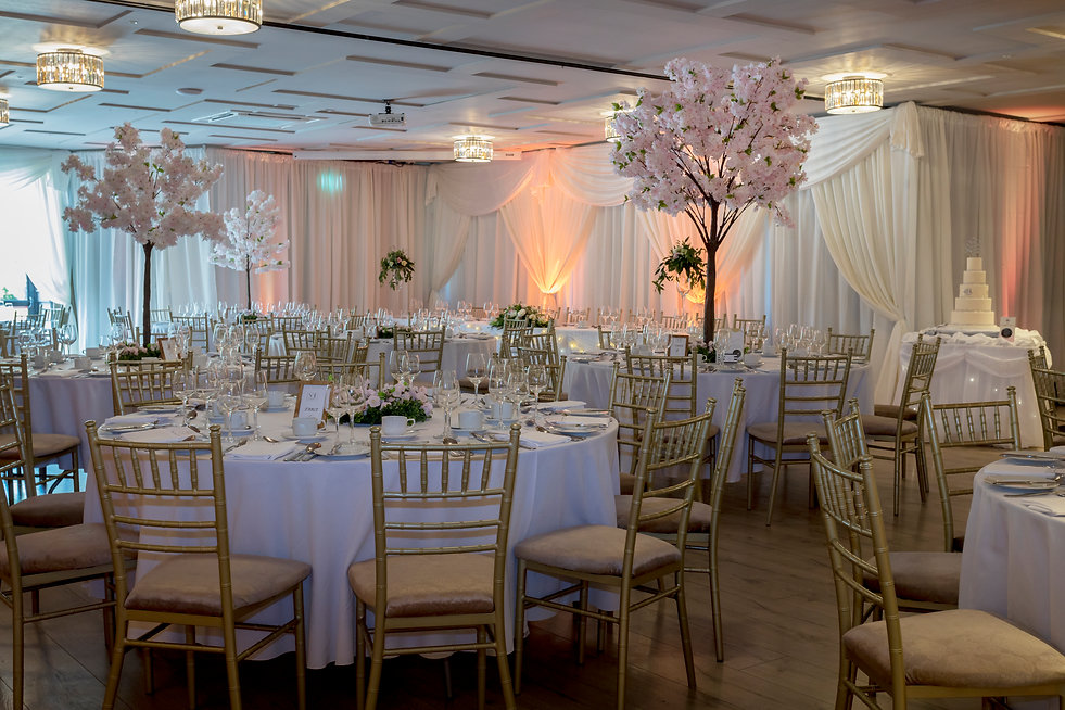 Hotel function room draping