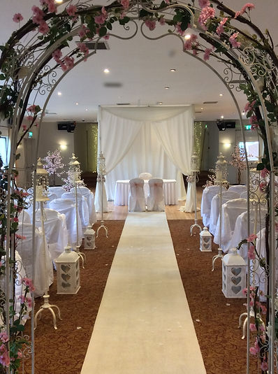 Cherry blossom wedding arch