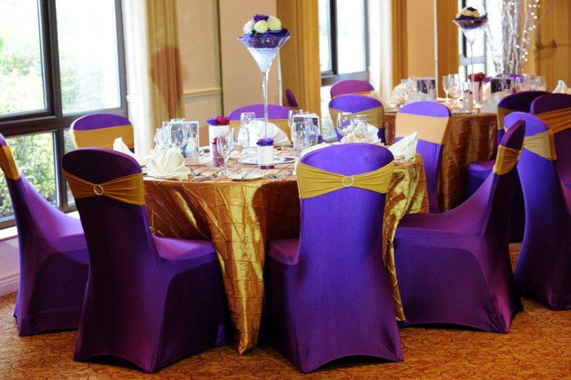 Purple & Gold wedding theme