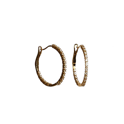 "1"" Diamond Hoops"