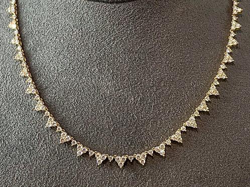 Large Diamond Cluster Necklace