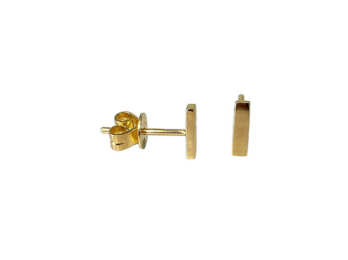 14K Yellow Gold Bar Studs