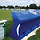Blue fibreglass and polyester resin Fibretech team shelter from Harrod Sport for hockey or football.