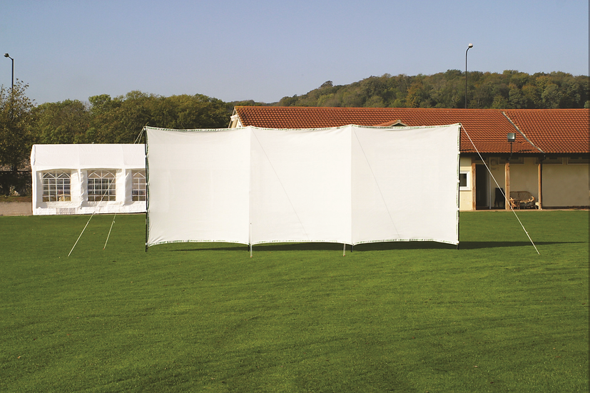 The Portascreen from Tildenet is a simple, portable cricket sight screen that can be set up in minutes.