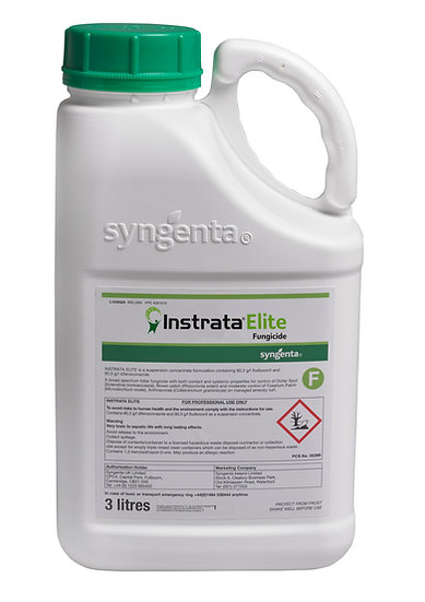 Syngenta Instrata Elite is a foliar fungicide for control of microdochium (fusarium) patch, dollar spot & brown patch.