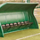 Dark green 10-seater fibreglass and polyester resin Fibretech team shelter from Harrod Sport for hockey or football.