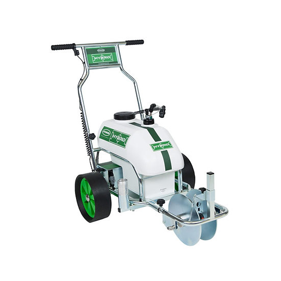 Unique three-wheeled Hybrid spray line marker from Pitchmark, designed for groundsmen at top level football stadia pitches.