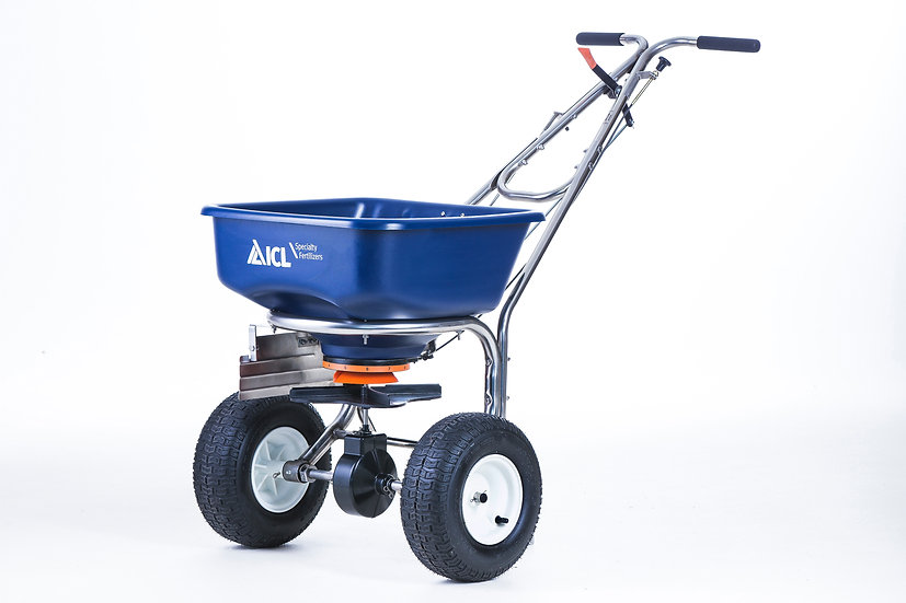The SR-2000 is a premium rotary spreader with stainless steel frame for accurate spread of grass seed and granular fertilizer