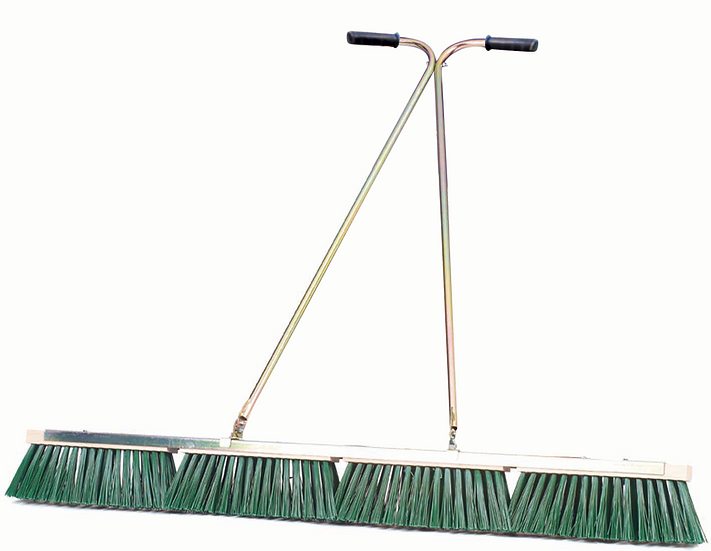 Heavy gauge steel drag brush with stiff nylon replaceable bristle heads.  For use with top dressings and worm cast removal.