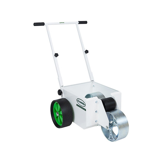 100mm (4 inch) wide transfer wheel-to-wheel line marker machine from Pitchmark, use to mark out football and rugby pitches.
