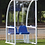Curved aluminium 'Premier' team shelter with clear rear and side panels from Harrod Sport.